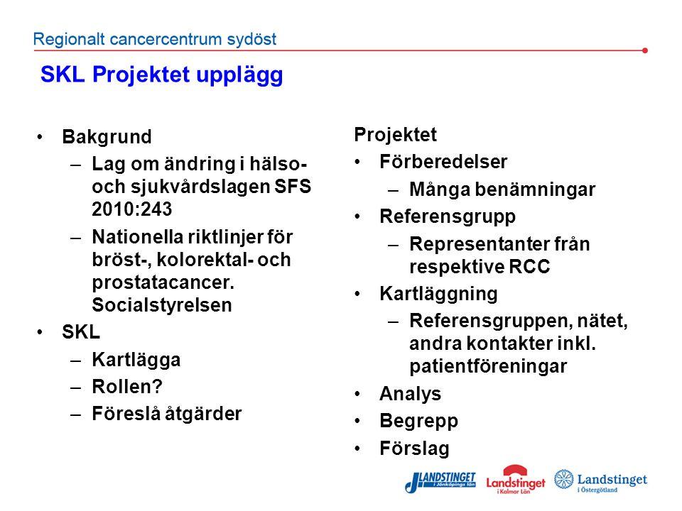 SKL Projektet upplägg Bakgrund Projektet