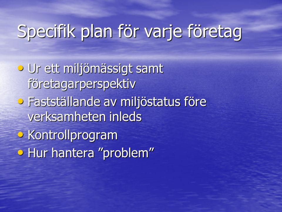 Specifik plan för varje företag