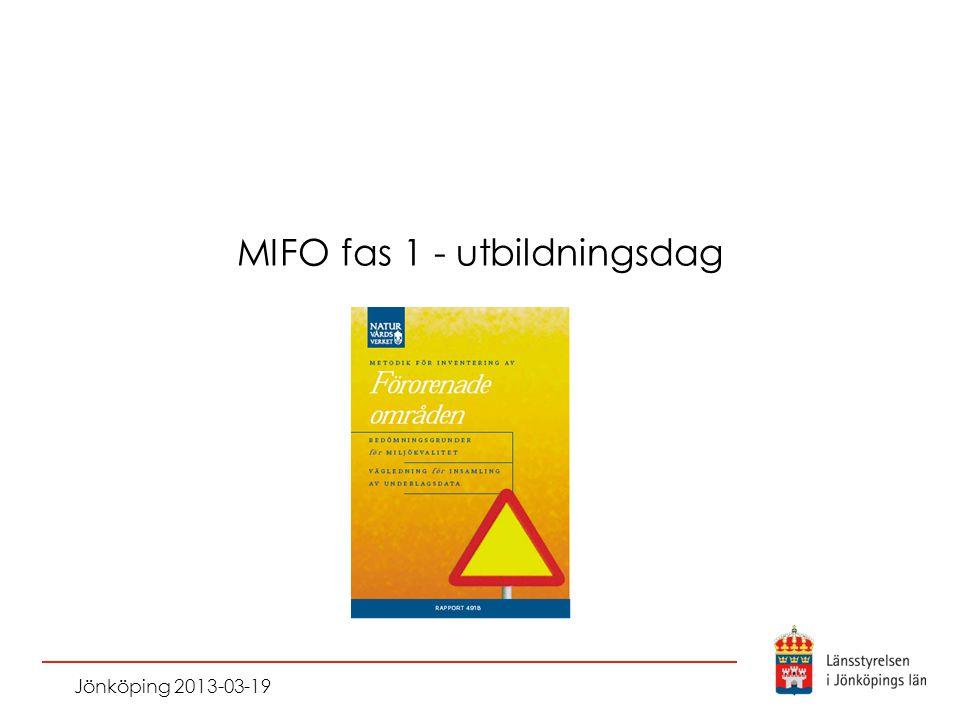 MIFO fas 1 - utbildningsdag