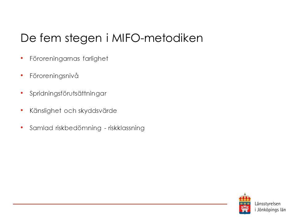 De fem stegen i MIFO-metodiken