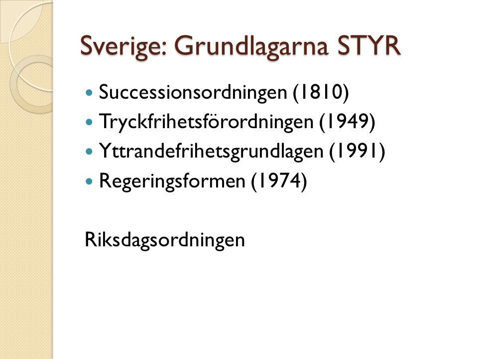 Sverige: Grundlagarna STYR