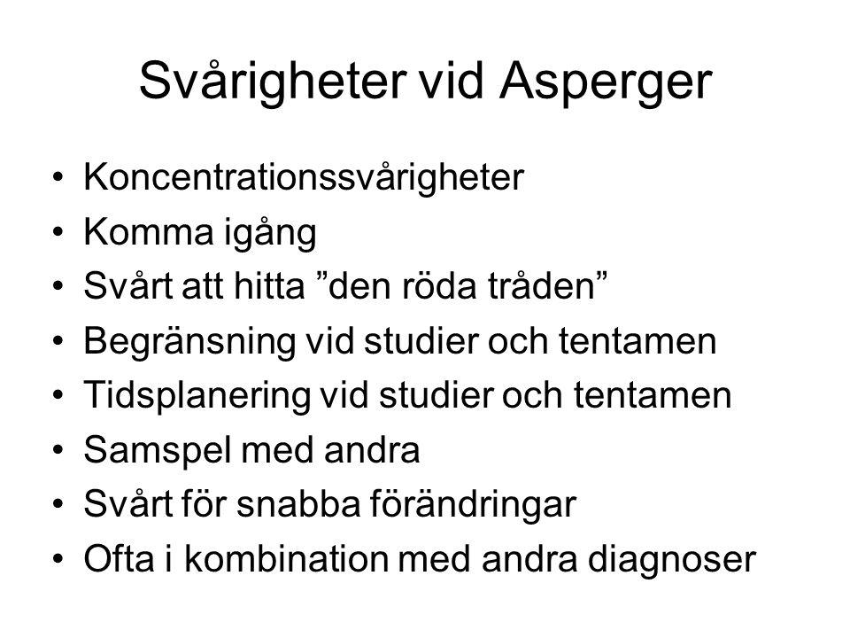 Svårigheter vid Asperger