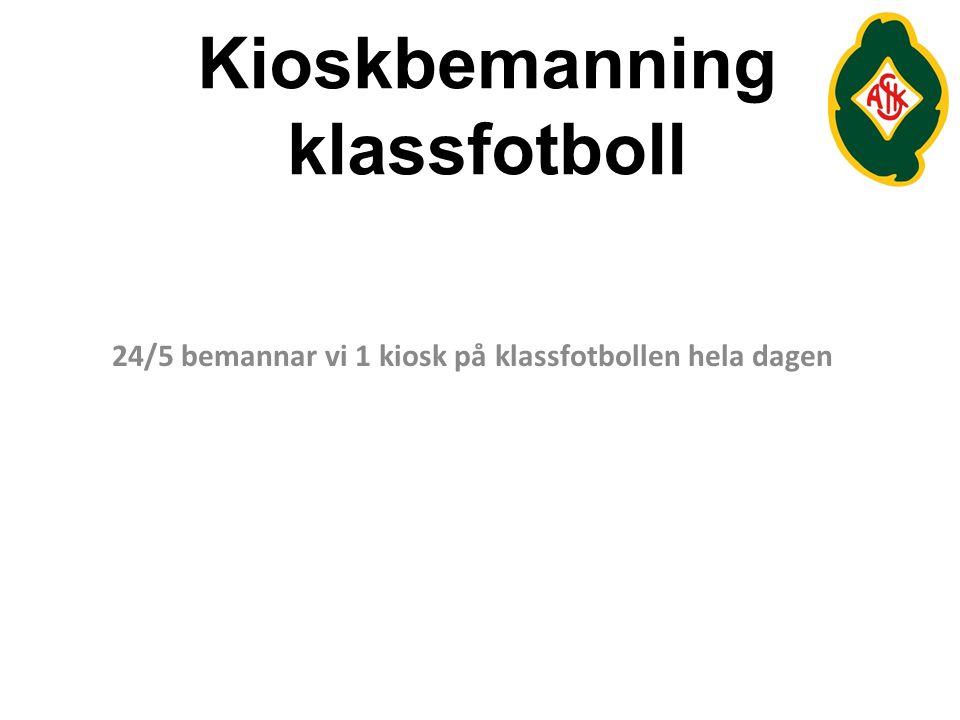 Kioskbemanning klassfotboll
