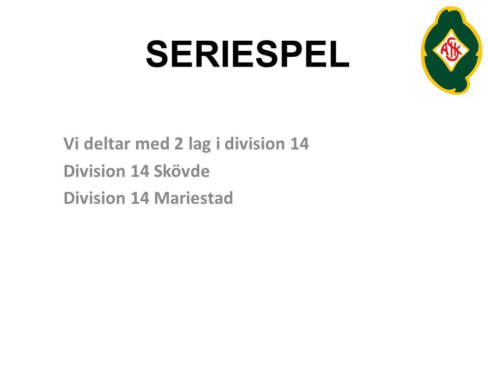 SERIESPEL Vi deltar med 2 lag i division 14 Division 14 Skövde