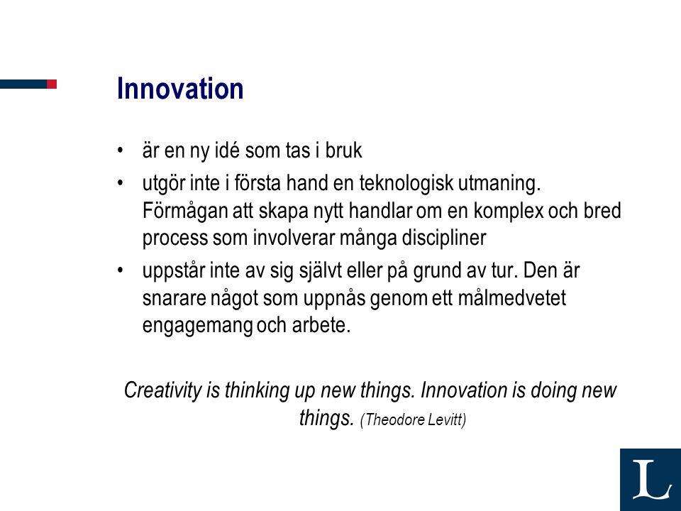 Innovation är en ny idé som tas i bruk