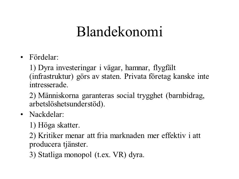 Blandekonomi Fördelar: