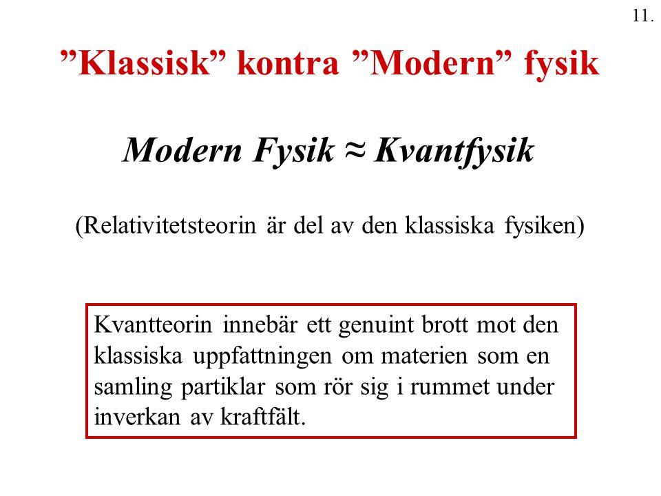 Klassisk kontra Modern fysik
