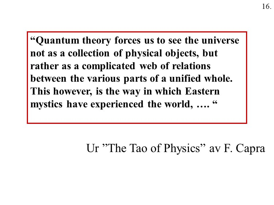 Ur The Tao of Physics av F. Capra