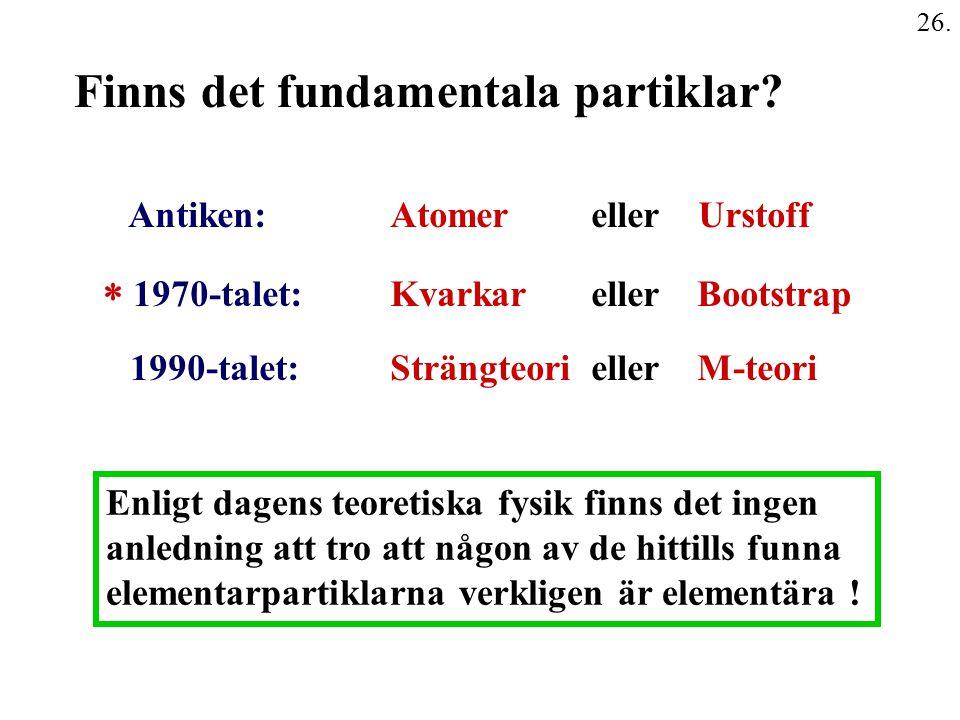 Finns det fundamentala partiklar