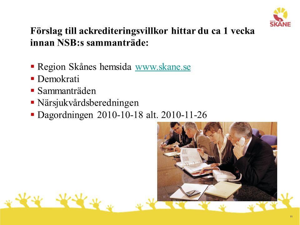 Region Skånes hemsida www.skane.se Demokrati Sammanträden