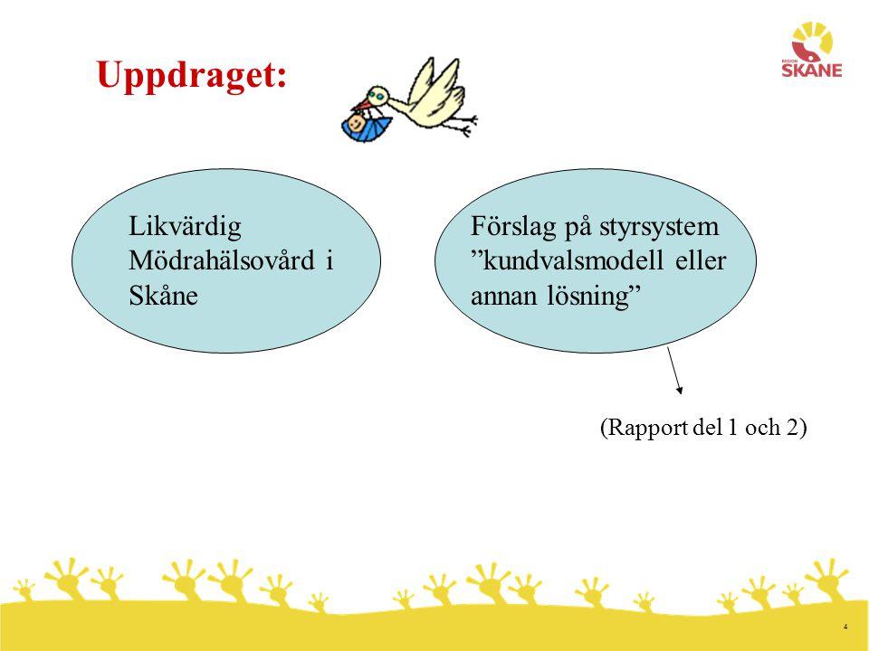 Uppdraget: Likvärdig Mödrahälsovård i Skåne