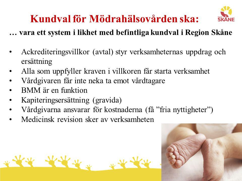 Kundval för Mödrahälsovården ska: