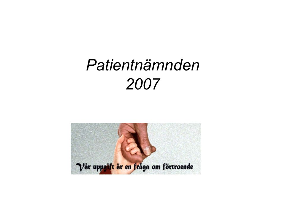Patientnämnden 2007