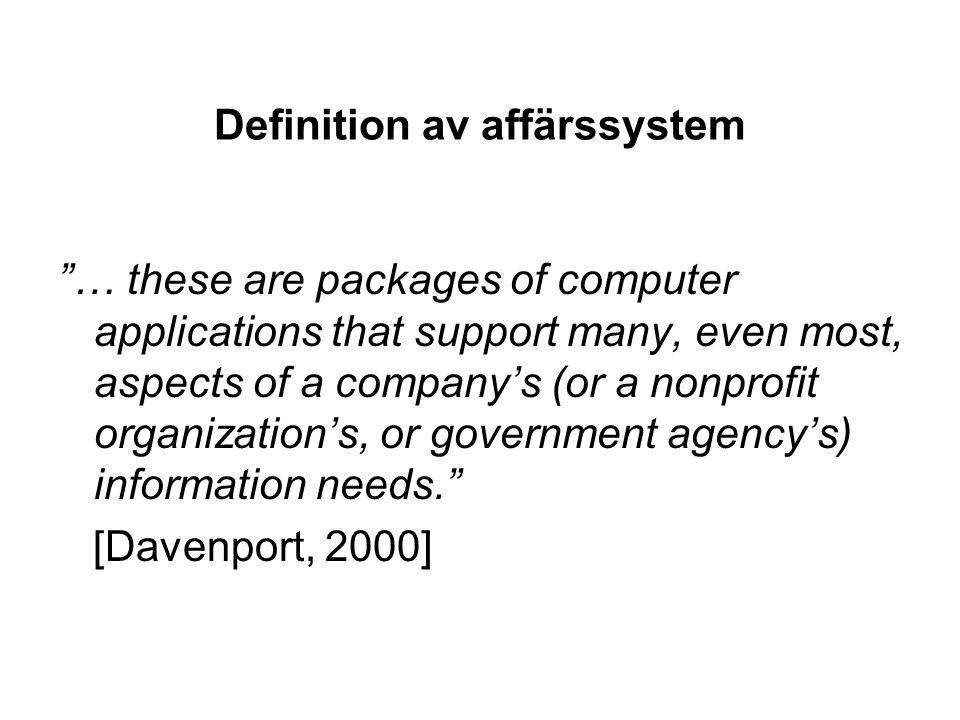 Definition av affärssystem