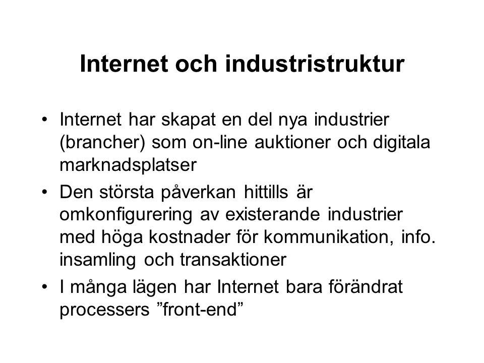 Internet och industristruktur