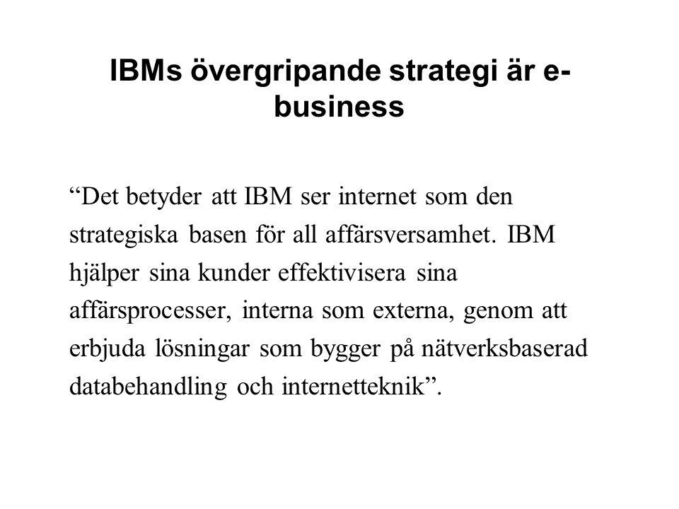 IBMs övergripande strategi är e-business