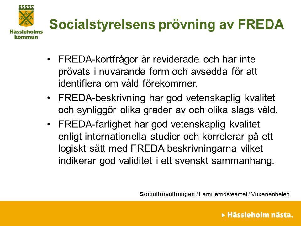Socialstyrelsens prövning av FREDA