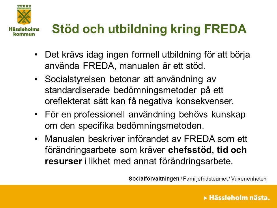 Stöd och utbildning kring FREDA