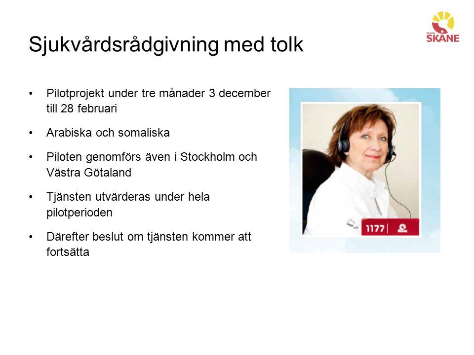 Sjukvårdsrådgivning med tolk