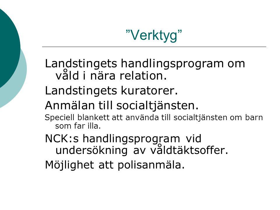 Verktyg Landstingets handlingsprogram om våld i nära relation.