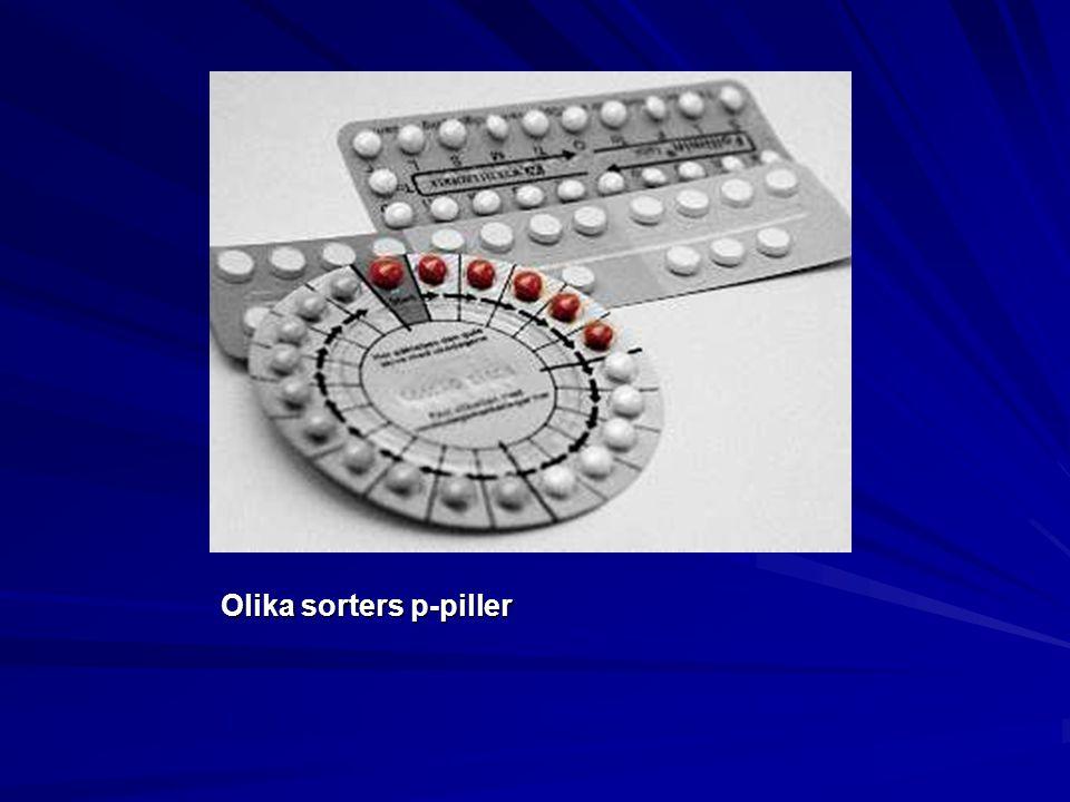 Olika sorters p-piller