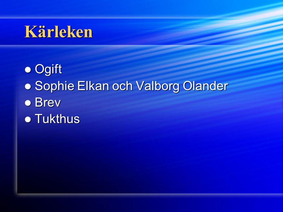 Kärleken Ogift Sophie Elkan och Valborg Olander Brev Tukthus