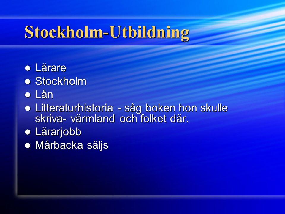 Stockholm-Utbildning