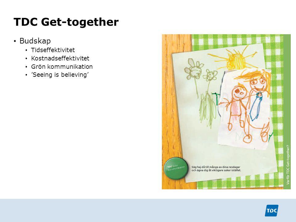 TDC Get-together Budskap Tidseffektivitet Kostnadseffektivitet
