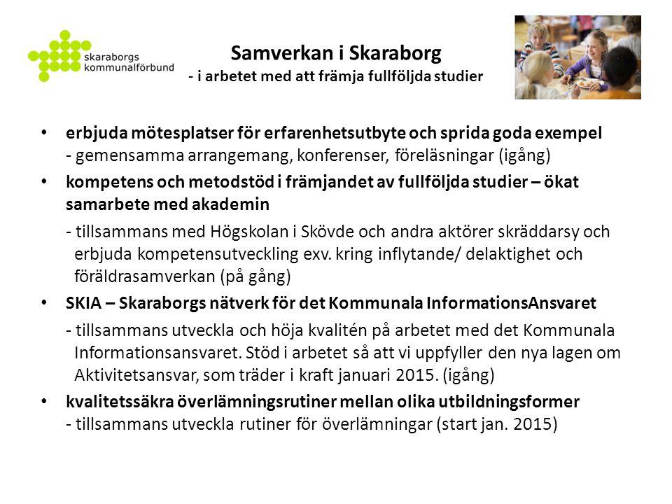 Samverkan i Skaraborg - i arbetet med att främja fullföljda studier