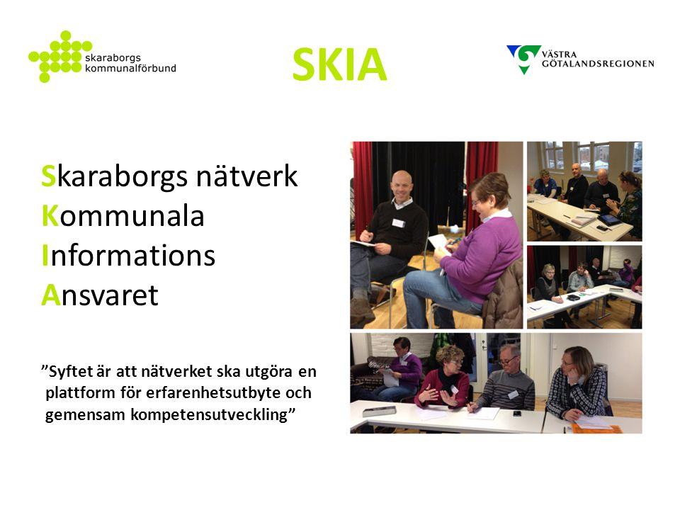 SKIA Skaraborgs nätverk Kommunala Informations Ansvaret