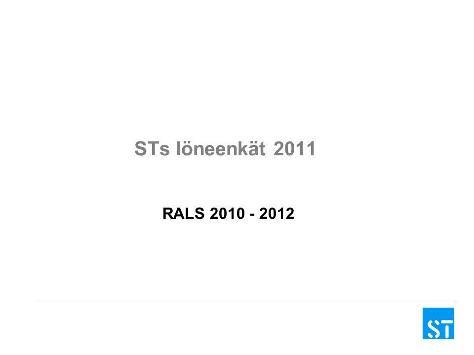 STs löneenkät 2011 RALS 2010 - 2012