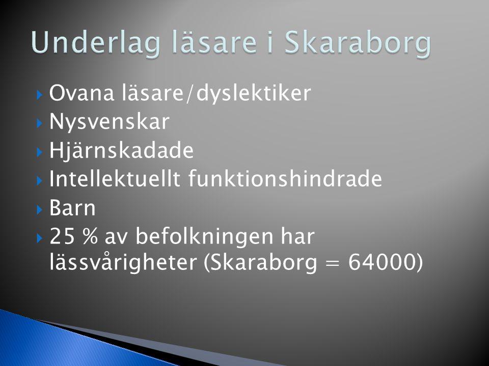Underlag läsare i Skaraborg