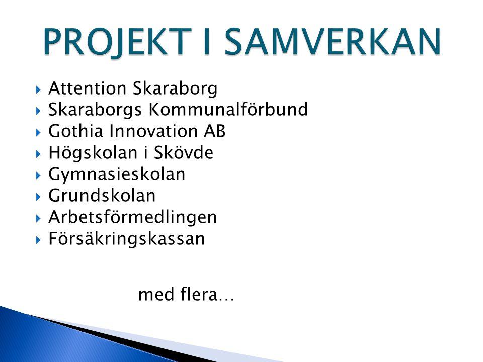 PROJEKT I SAMVERKAN Attention Skaraborg Skaraborgs Kommunalförbund