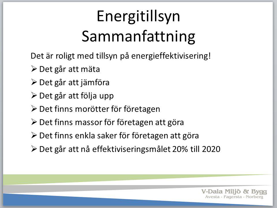 Energitillsyn Sammanfattning