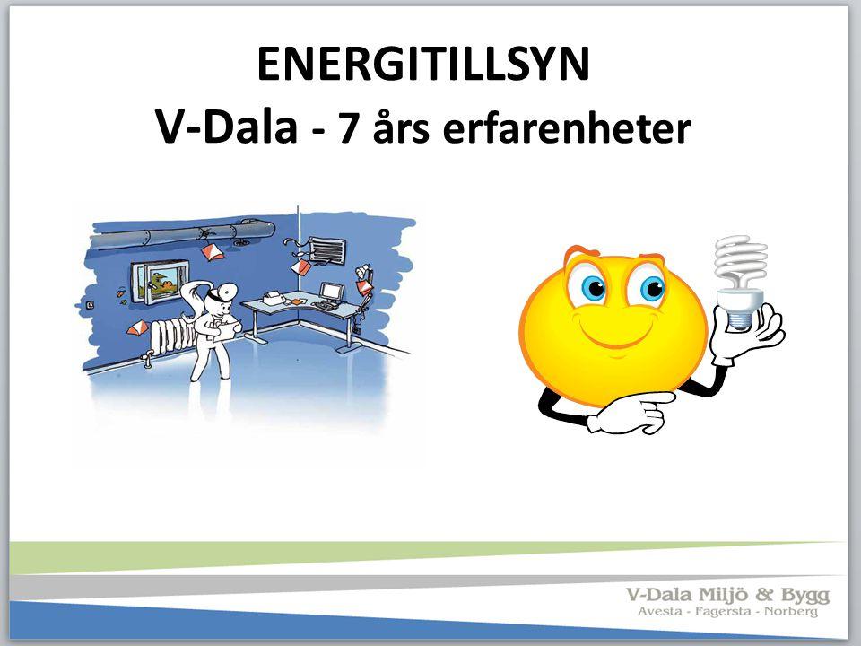 ENERGITILLSYN V-Dala - 7 års erfarenheter