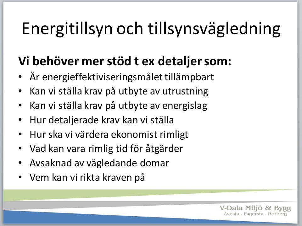 Energitillsyn och tillsynsvägledning