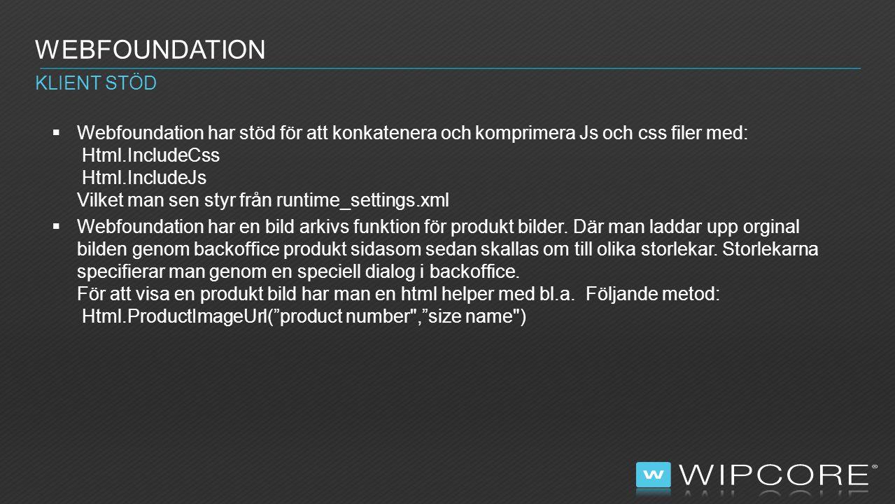 webfoundation Klient stöd