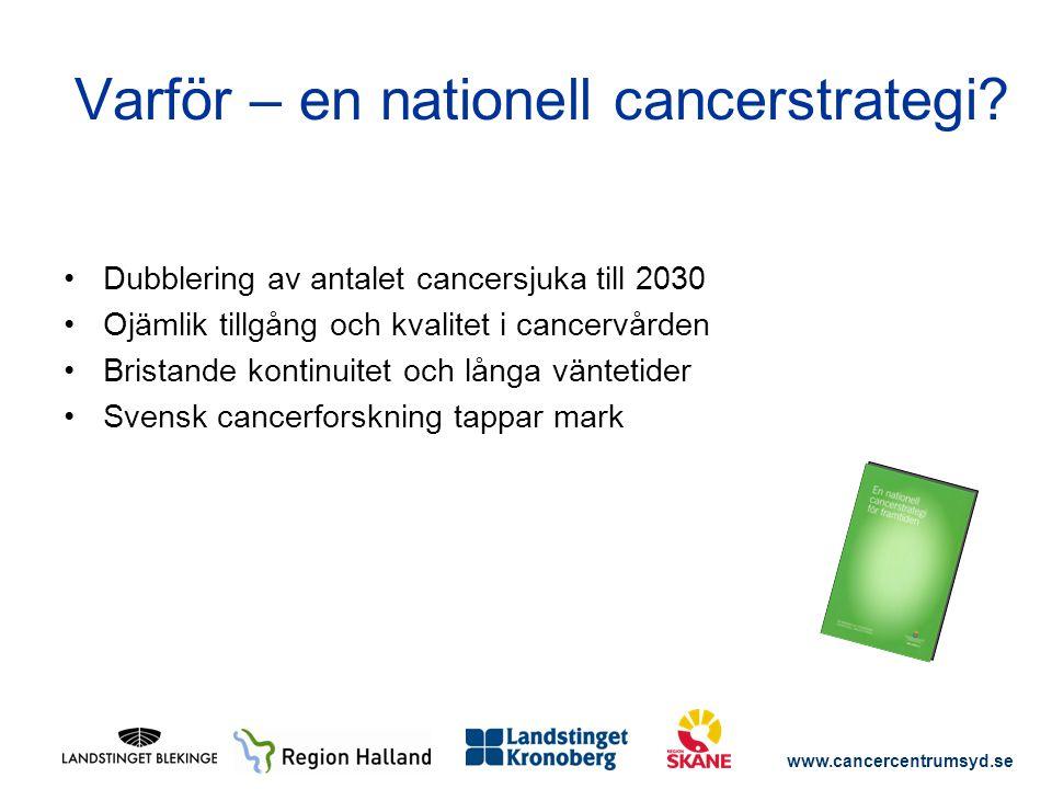 Varför – en nationell cancerstrategi
