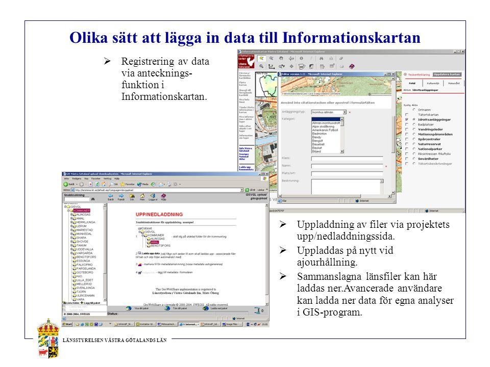 Olika sätt att lägga in data till Informationskartan