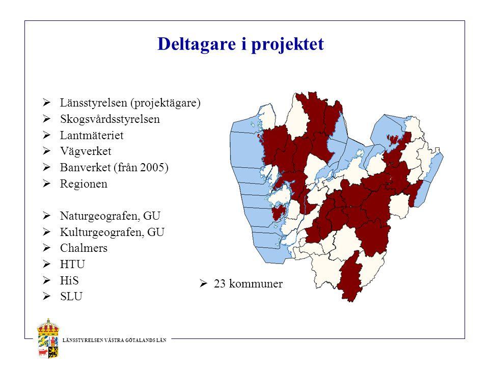 Deltagare i projektet Länsstyrelsen (projektägare) Skogsvårdsstyrelsen