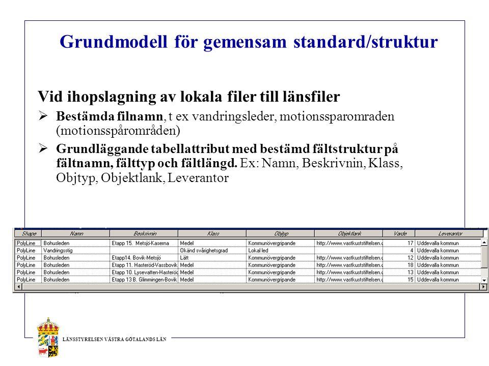 Grundmodell för gemensam standard/struktur