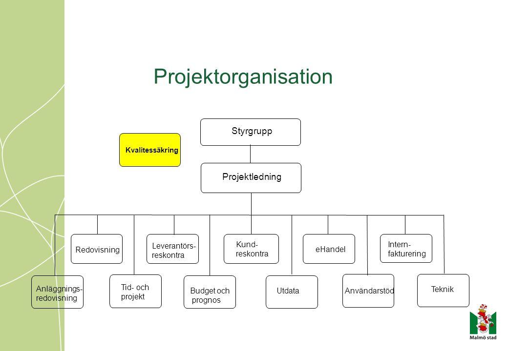 Projektorganisation Styrgrupp Projektledning Tid- och projekt