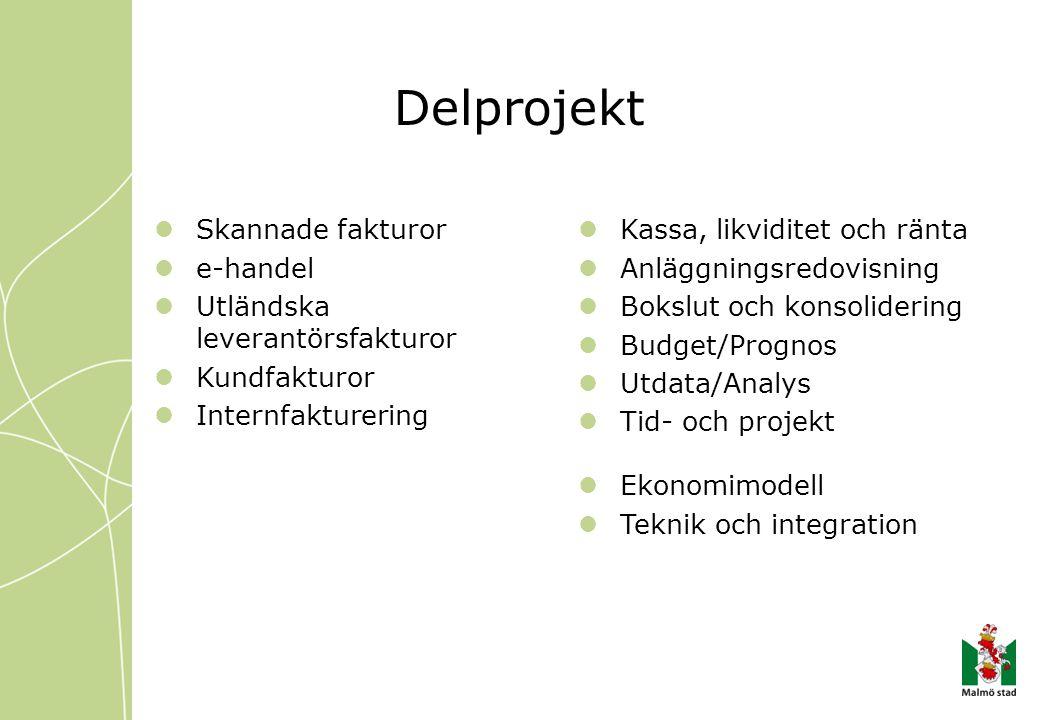 Delprojekt Skannade fakturor e-handel Utländska leverantörsfakturor
