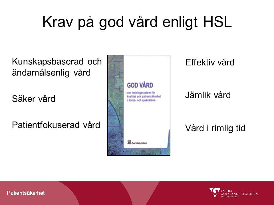 Krav på god vård enligt HSL
