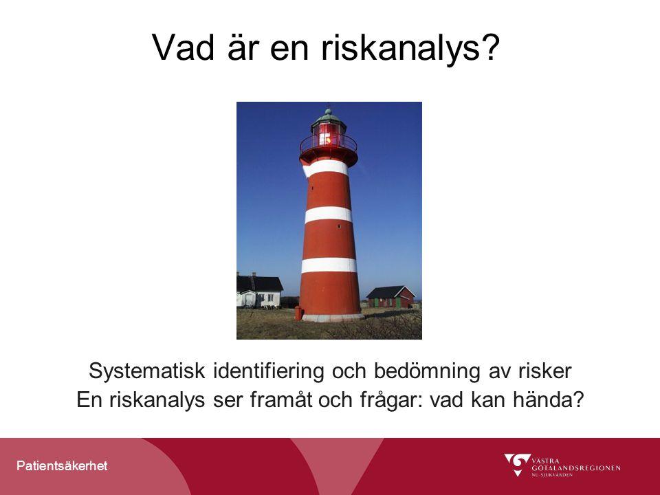 Vad är en riskanalys. Systematisk identifiering och bedömning av risker.