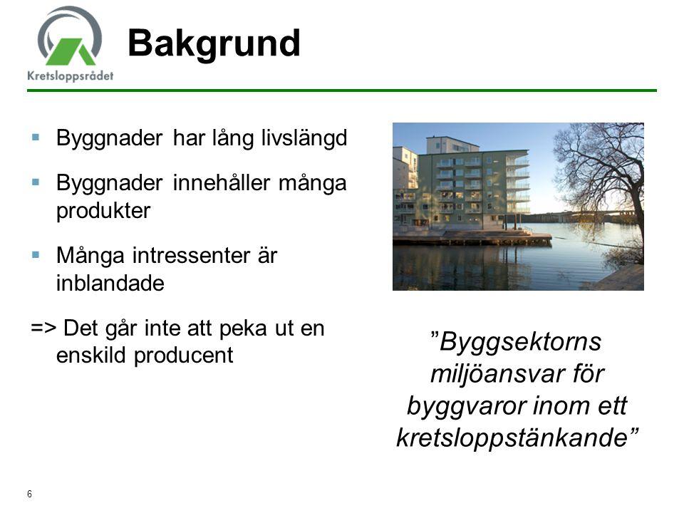 Byggsektorns miljöansvar för byggvaror inom ett kretsloppstänkande