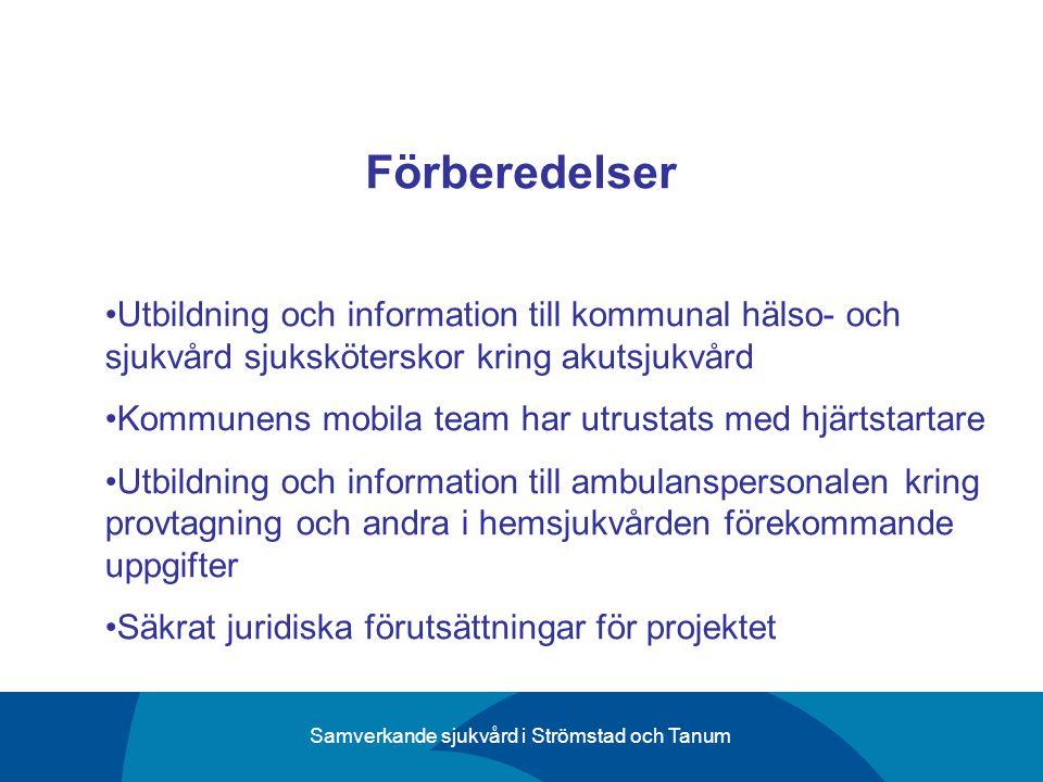 Förberedelser Utbildning och information till kommunal hälso- och sjukvård sjuksköterskor kring akutsjukvård.