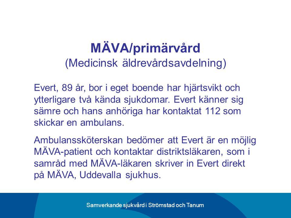 MÄVA/primärvård (Medicinsk äldrevårdsavdelning)