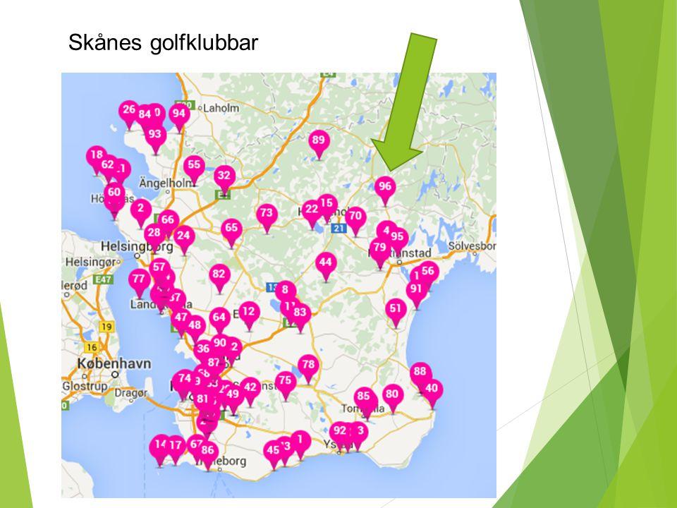 Skånes golfklubbar