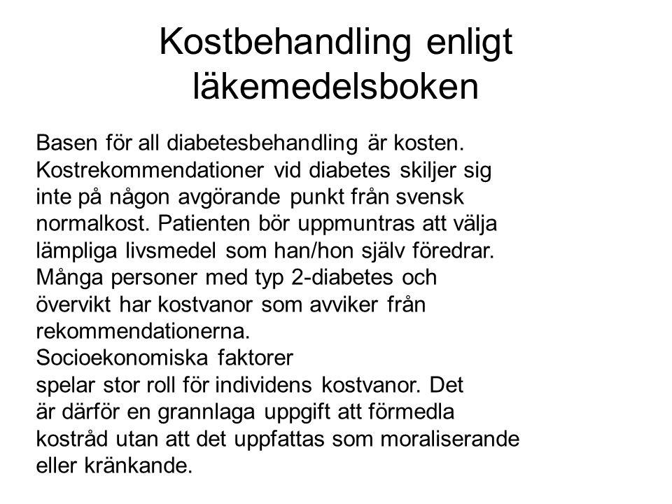 Kostbehandling enligt läkemedelsboken